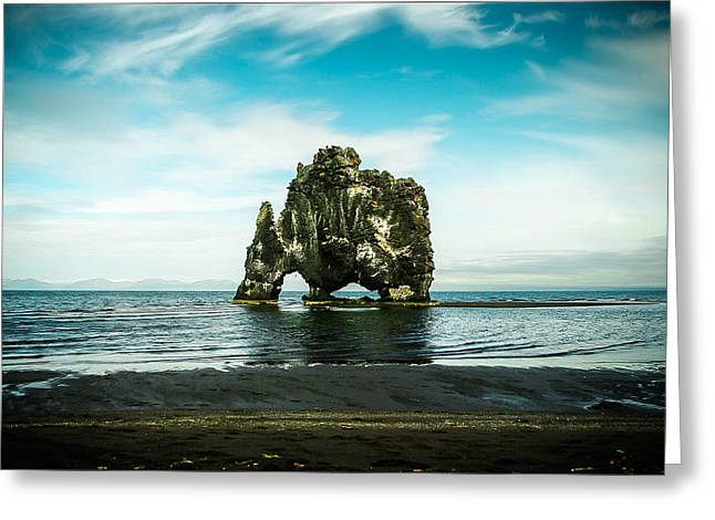 Ocean Landscape Greeting Cards - Hvitserkur Iceland Greeting Card by Mirra Photography