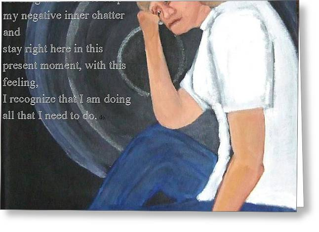 I Forgive Myself Greeting Card by  Laurie Homan