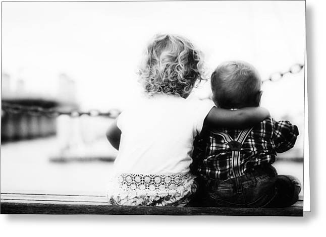 Big Sister Greeting Cards - I Love You Little Brother Greeting Card by Foundry Co
