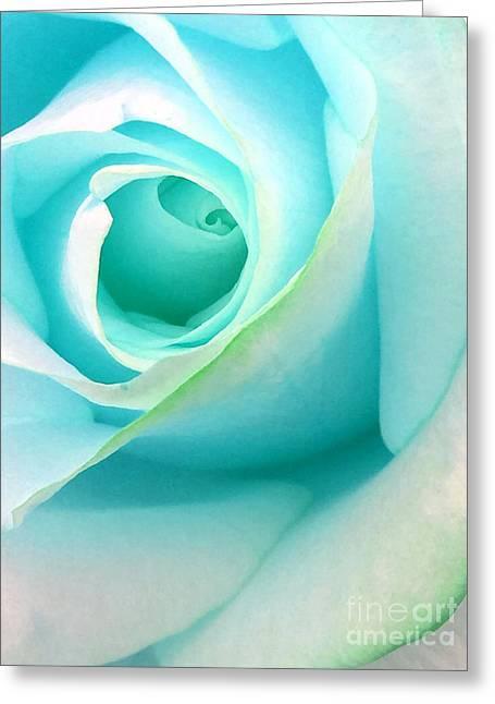 Ice Blue Greeting Card by Krissy Katsimbras