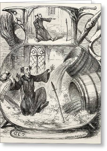 Cruikshank Greeting Cards - Illustration By George Cruikshank To Greeting Card by Ken Welsh