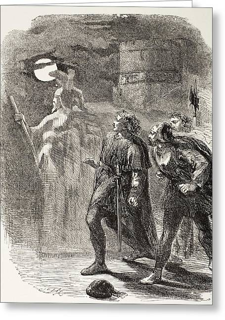 Marcelli Greeting Cards - Illustration From Hamlet By William Greeting Card by Ken Welsh