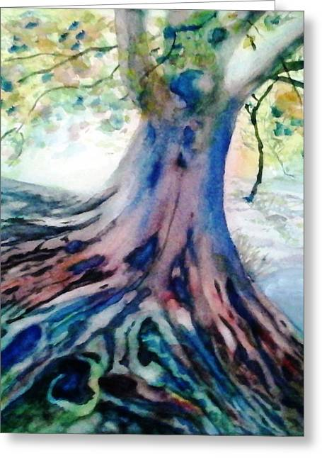 Tree Roots Paintings Greeting Cards - Im Rooting For You Greeting Card by Jennie Samuel