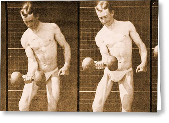 Homoerotic Photographs Greeting Cards - Image sequence from Animal Locomotion series Greeting Card by Eadweard Muybridge
