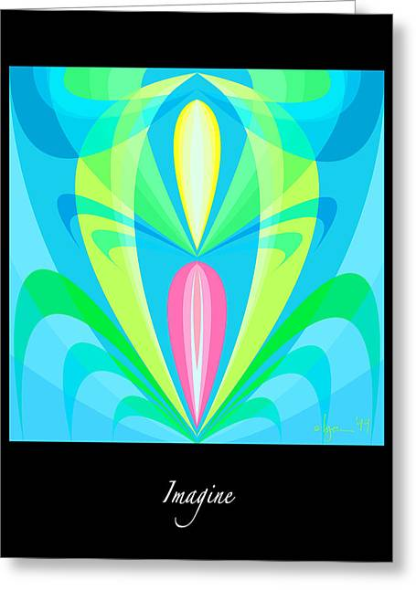 Survivor Art Greeting Cards - Imagine Greeting Card by Angela Treat Lyon