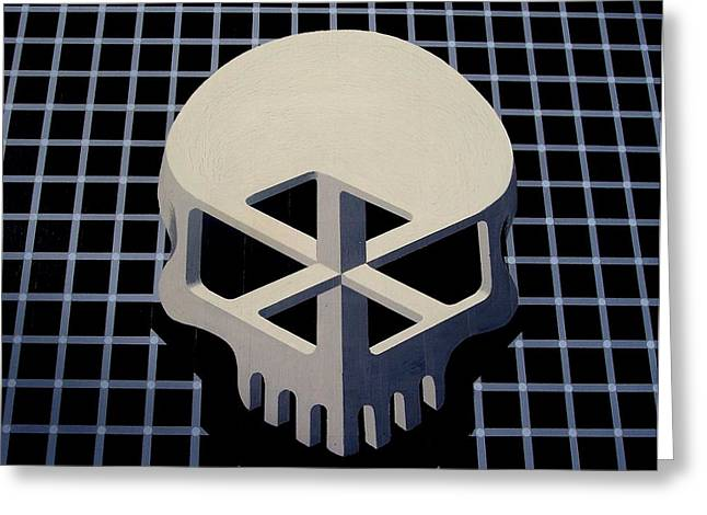 Impossible Object Greeting Cards - Impossible skull Greeting Card by Drew Spence