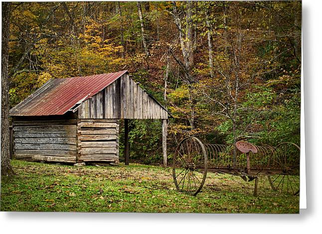 Tennessee Barn Greeting Cards - In the Past Greeting Card by Dave Bosse