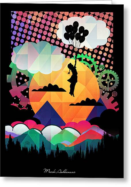 Optimism Digital Greeting Cards - In The Sky  Greeting Card by Mark Ashkenazi