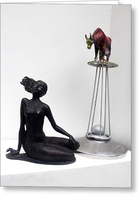 Incarnation Sculptures Greeting Cards - Incarnation Greeting Card by Gnana P