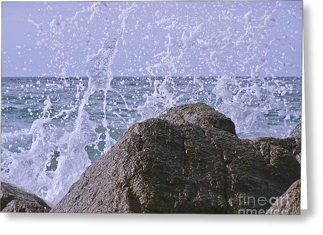 Slam Greeting Cards - Incoming Tide Greeting Card by Terri  Waters