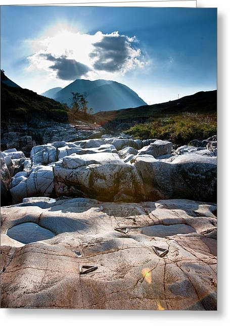 Glen Etive Greeting Cards - Incongruence  Greeting Card by Max Blinkhorn