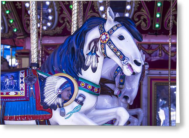 Magical Greeting Cards - Indian Chiefs Horse Greeting Card by Garry Gay