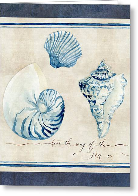 Indigo Ocean - Song Of The Sea Greeting Card by Audrey Jeanne Roberts