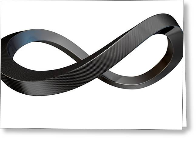 Limitless Greeting Cards - Infinity Symbol Carbon Fibre Greeting Card by Allan Swart