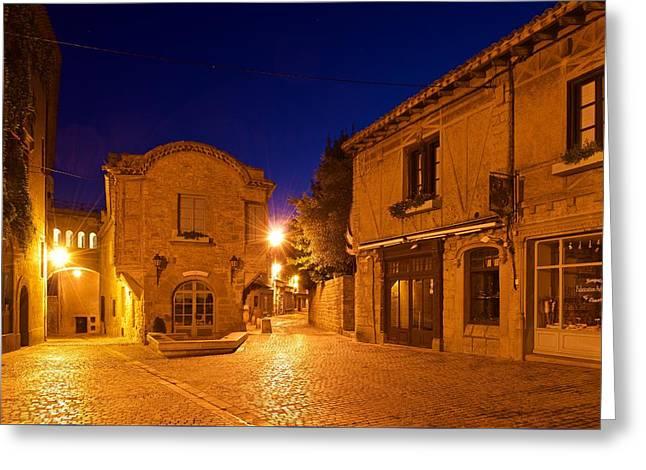 Languedoc Digital Greeting Cards - Inside La Cite Greeting Card by Stephen Taylor