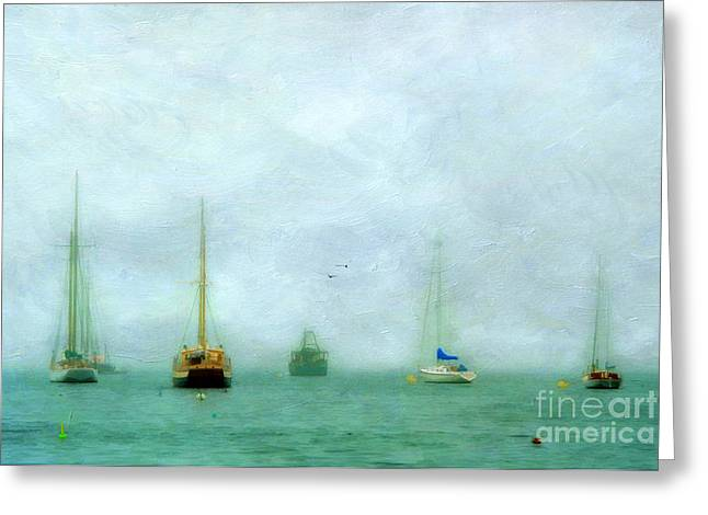 Maine Shore Greeting Cards - Into The Fog Greeting Card by Darren Fisher