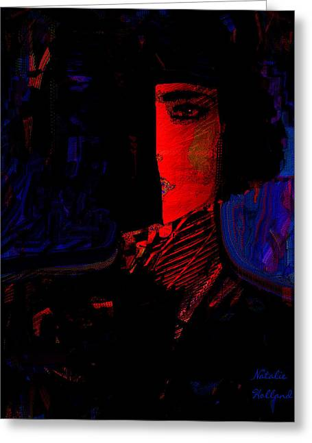 Intrigue Greeting Card by Natalie Holland