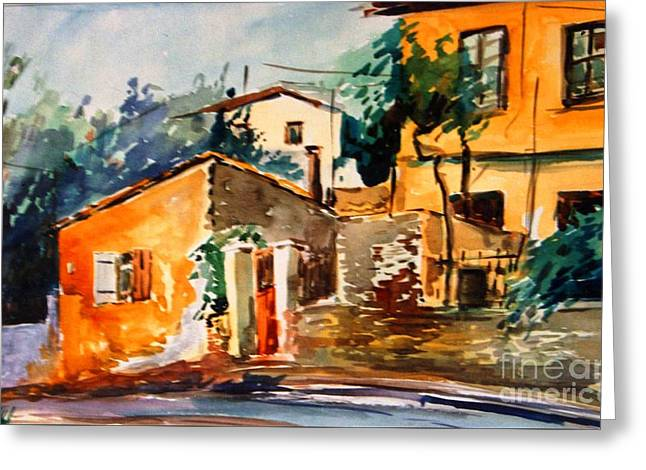 Ipiros Old Houses Greeting Card by George Siaba