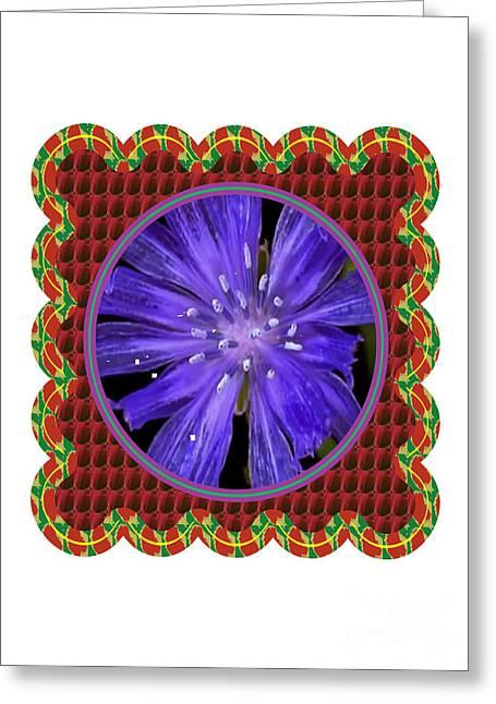 Fineartamerica Greeting Cards - Iris reticulata Purple Gem Flower Floral Photography n Graphic fusion art NavinJoshi FineArtAmerica  Greeting Card by Navin Joshi