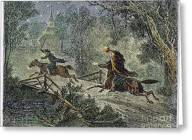 Headless Horseman Greeting Cards - Irving: Sleepy Hollow Greeting Card by Granger