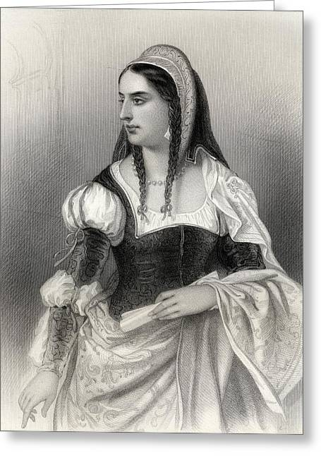 Catholic Drawings Greeting Cards - Isabella I, Byname Isabella The Greeting Card by Ken Welsh