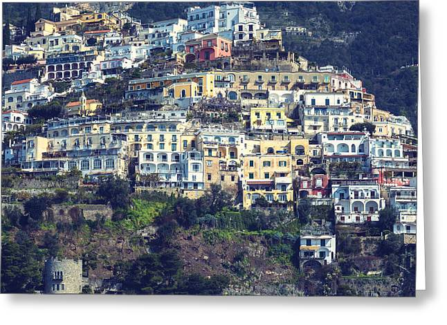 Mediterranean House Greeting Cards - Italian houses Greeting Card by Joana Kruse