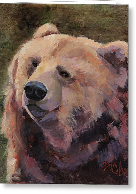 Mountain Cabin Paintings Greeting Cards - Its Good to be a Bear Greeting Card by Billie Colson