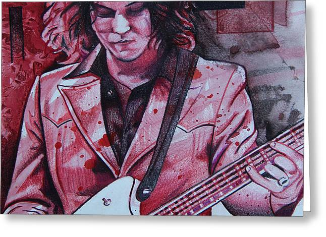 Jack White Greeting Card by Joshua Morton