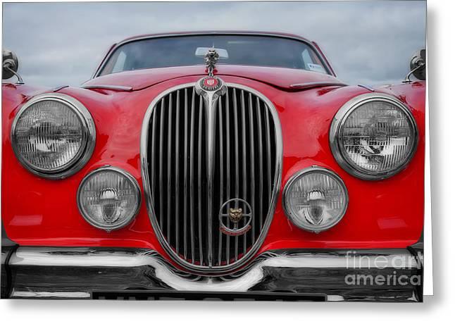 Saloons Greeting Cards - Jaguar mark 2 Greeting Card by Carl Shellis
