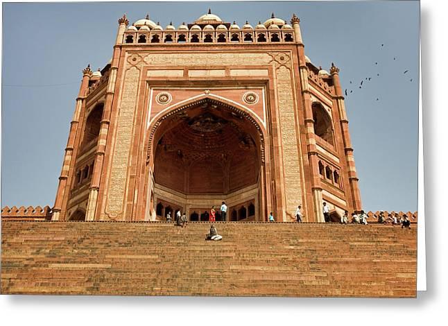 Jama Masjid, Buland Darwaza, Fatehpur Sikri Greeting Card by Aivar Mikko