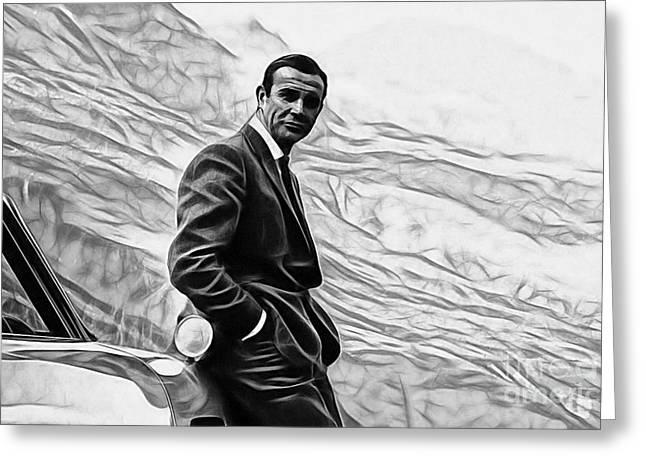 James Greeting Cards - James Bond Collection Greeting Card by Marvin Blaine