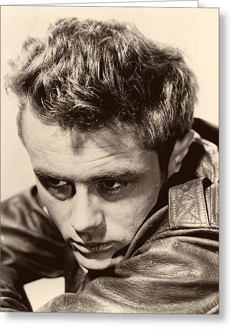 1950s Tv Greeting Cards - James Dean 1955 Greeting Card by Dr Macro