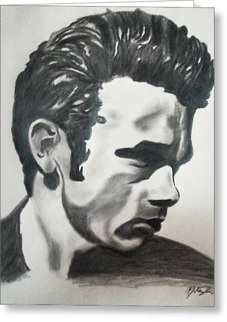 James Dean Posters Drawings Greeting Cards - James Dean Greeting Card by Mikayla Henderson
