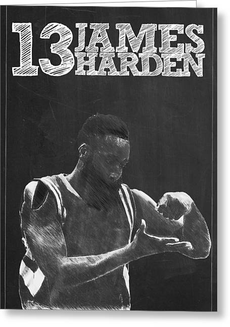 Kobe Bryant Wall Art Greeting Cards - James Harden Greeting Card by Semih Yurdabak