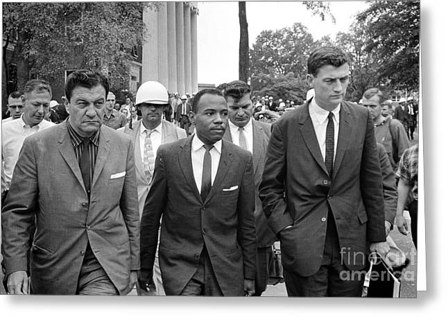 Us Civil Rights Greeting Cards - James Meredith (1933- ) Greeting Card by Granger