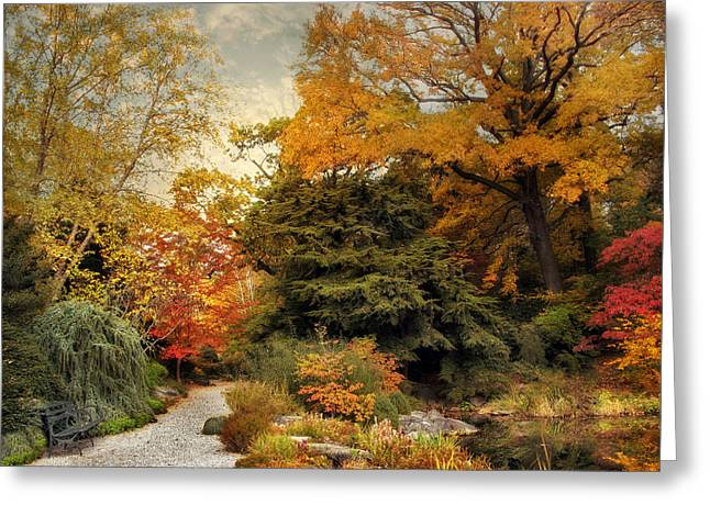 Water Garden Greeting Cards - Japanese Rock Garden Greeting Card by Jessica Jenney