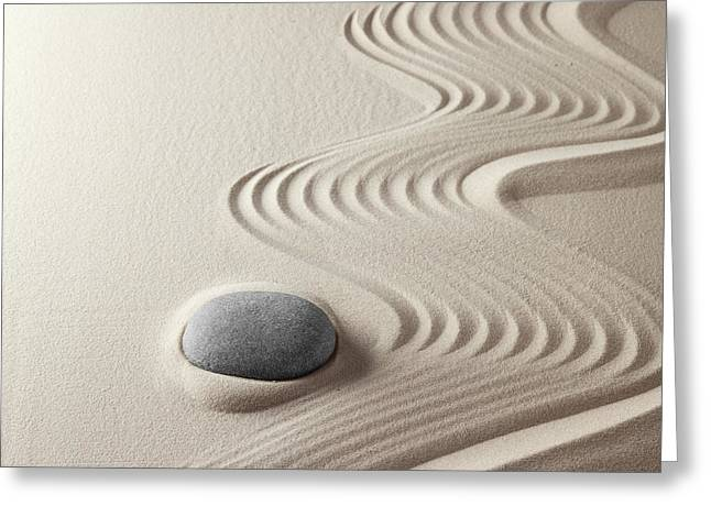 Recently Sold -  - Nature Abstract Greeting Cards - Japanese Zen Garden Greeting Card by Dirk Ercken
