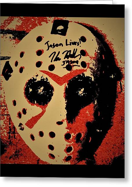 Jason Lives Greeting Card by Michael Bergman