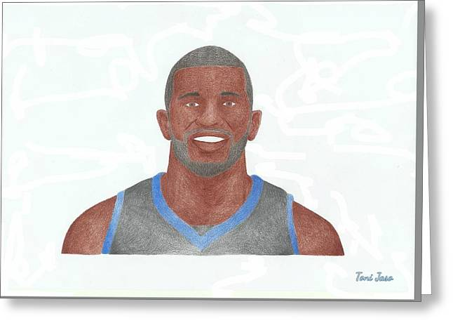 Slam Drawings Greeting Cards - Jason Richardson Greeting Card by Toni Jaso