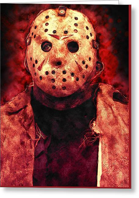 Jason Voorhees Greeting Cards - Jason Voorhees Greeting Card by Taylan Soyturk