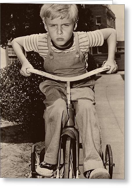 Jay North As Dennis The Menace - 1959 Greeting Card by Mountain Dreams