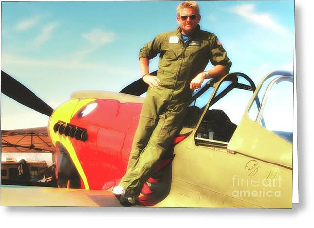 JC Paul and P-40 Parrothead Reno Air Races 2010 Greeting Card by Gus McCrea