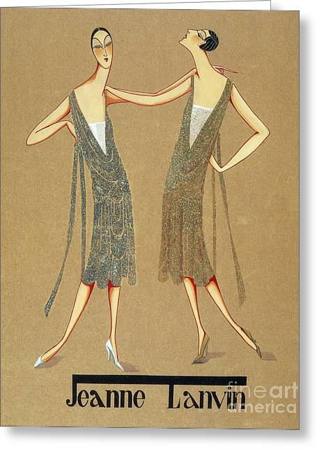 Apparel Greeting Cards - Jeanne Lanvin Design, 1925 Greeting Card by Science Source