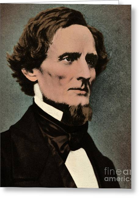 American Politician Greeting Cards - Jefferson Davis, President Greeting Card by Photo Researchers