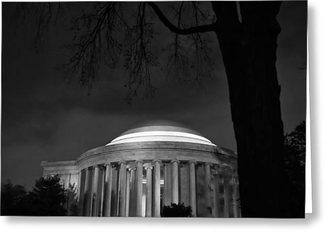 Jefferson Memorial at Night Greeting Card by Sanjay Nayar