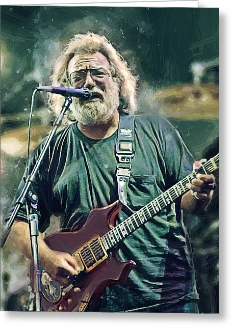 Jerry Garcia  Greeting Card by Afterdarkness