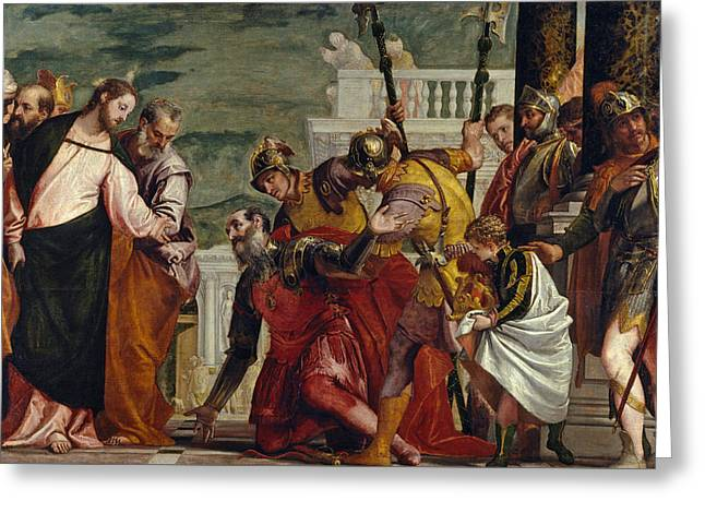 Jesus And The Centurion Greeting Card by Paolo Veronese