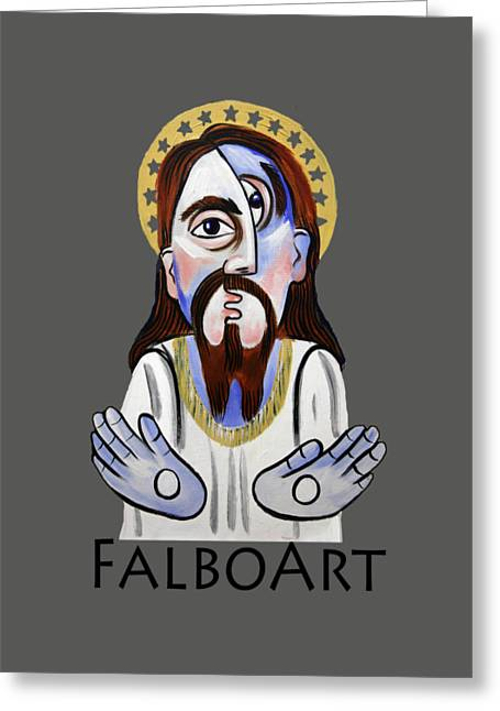 Famous Artist Greeting Cards - Jesus Christ Superstar Greeting Card by Anthony Falbo
