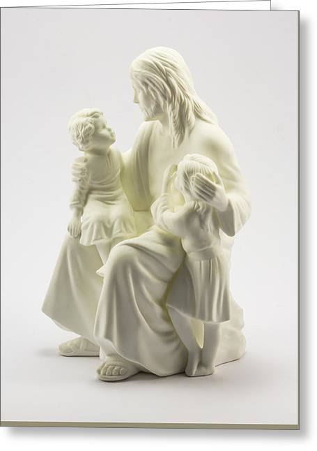 Jesus Loves The Little Children Greeting Card by Greg Thiemeyer