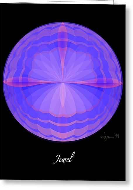 Cancer Survivor Greeting Cards - Jewel Greeting Card by Angela Treat Lyon